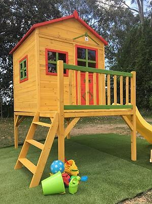 Cubby House CHARLIE Kids Playhouse Timber Wooden