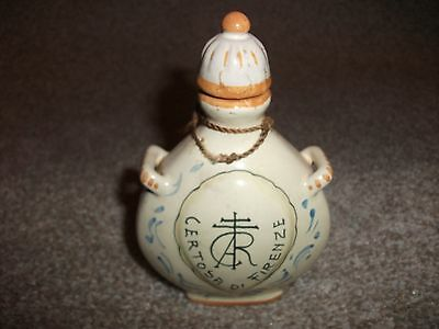 Vintage decorative ceramic bottle from Italy