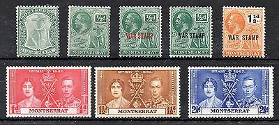 Montserrat GV Selection & GVI Coronation Set MM Cat £12