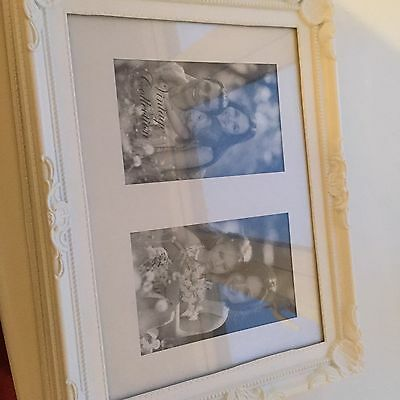 2 X Picture/Photo Frames Hanging Large white A4  Or 2 4 X 6 InchShabby Chic