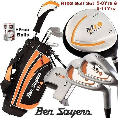 """new 2016"" Ben Sayers ""golf For Kids"" Complete Junior Golf Set Ages 5/8 & 9/11"