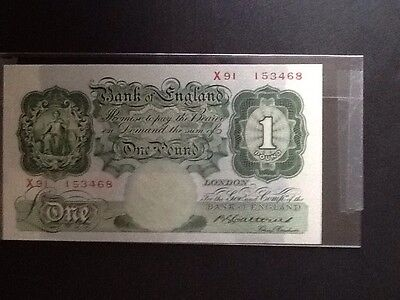 Bank Of England One Pound Note. 1930. Signed: Cattons. Xf+.