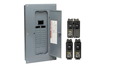 Homeline 100 Amp 40-Circuit Indoor Main Plug Neutral Circuit Breaker with Cover
