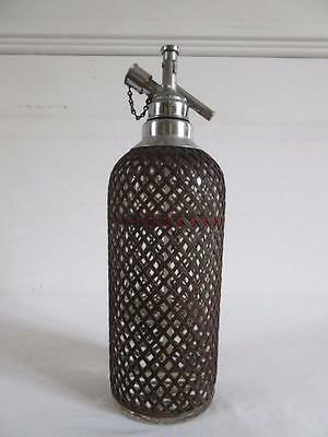 Vintage Retro Collectable Glass Chrome & Wire Mesh Clad Sparklets Soda Syphon