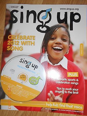 Sing up Magazine with CD Schools, Music Singing Lessons Choir teaching resources