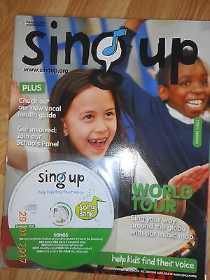 Sing Up Magazine with CD School, Choir, Music singing lessons teaching resources