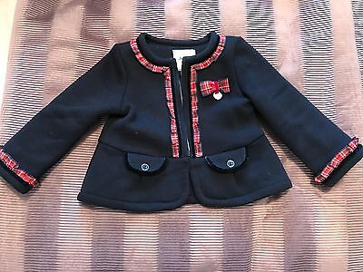 Girls Mayoral Navy Blue Jacket - size 12 months - excellent condition