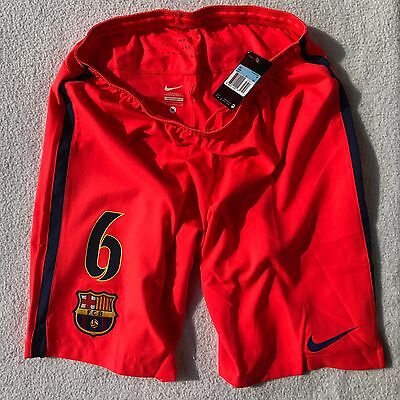 Fc Barcelona 2014-15 Away Xavi Player Issue Short. Match Short. Shirt. Jersey