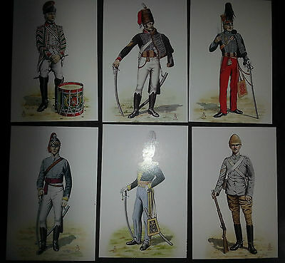 Set of Military Postcards 15th/19th The Kings Royal Hussars Alix Baker