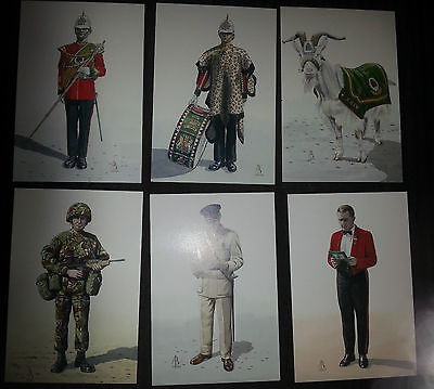 Set of Military Postcards Royal Regiment of Wales Alix Baker