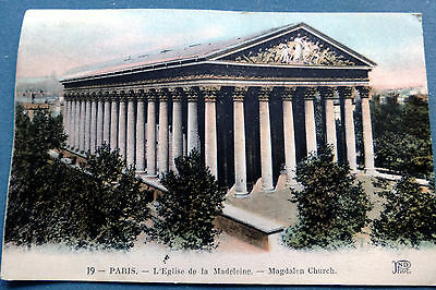 Postcards of Paris / Rouen / Dinant / Spa  1960  (4 cards)