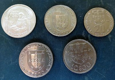 PORTUGAL  Collection of 5 interesting coins