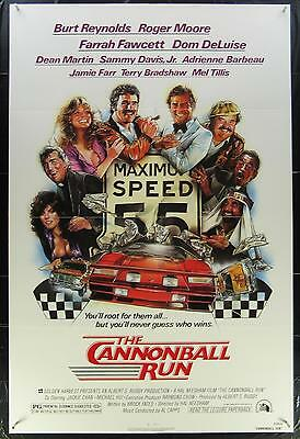 The CANNONBALL RUN 1981 Authentic 1 Sheet Movie Poster Burt Reynolds Roger Moore