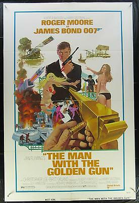 The MAN with the GOLDEN GUN 1974 One Sheet Movie Poster Roger Moore - James Bond