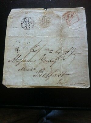 Pre Stamp Cover 1824 To Belfast.