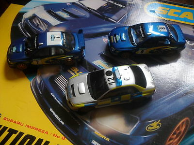 SCALEXTRIC SUBARU RALLY Car - Needs Two Tyres and contacts
