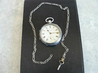 Vintage Express ( Sterling ) Silver English Lever  Pocket Watch ( Working )