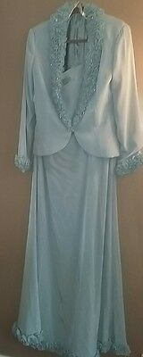 ladies full length  dress and jacket size 14