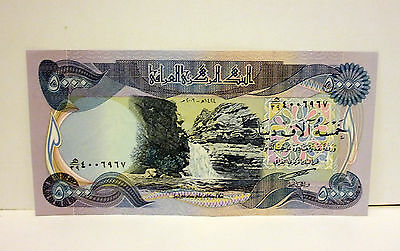 50000 New Iraqi Dinars 10 x 5000 uncirculated notes