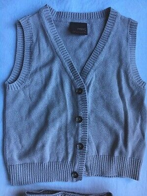 Waistcoat (knitted) And Shorts Set (grey). Next. 6-9 Months