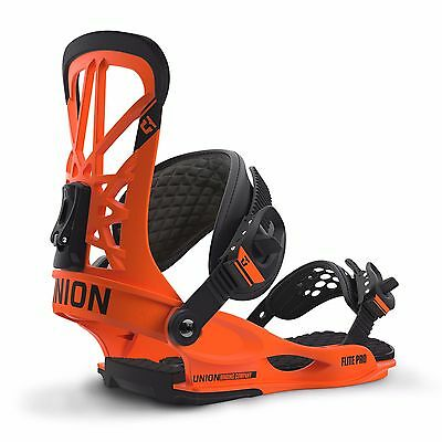 2017 Union Flite Pro Snowboard Bindings UK 9+ Large Orange SAVE 25%