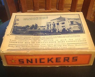 1941 Vintage Snickers 24 Bar Cardboard Candy Box