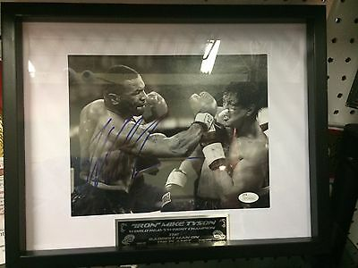 Autographed Mike Tyson vs Stallone