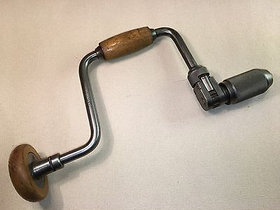 """Vintage Stanley No.144 10"""" Reversable Ratchet Hand Brace, Made In England"""