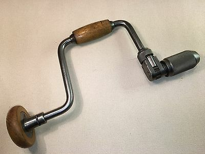 """Vintage Stanley No.144 10"""" Reversible Ratchet Hand Brace, Made In England"""