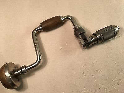 """STANLEY No73- 8"""" REVERSABLE RATCHET HAND BRACE, MADE IN ENGLAND"""