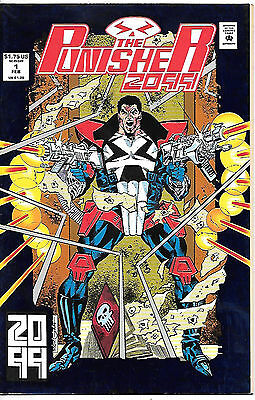 The Punisher 2099 #1 (1993 vf 8.0) fault free - metallic embossed card cover