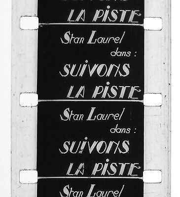Film 16mm Burlesque SUIVONS LA PISTE Man about town 1923 Stan Laurel
