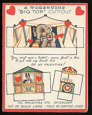 "Valentine Paper Toy Greeting Cd - ""Bit Top"" Circus Cut-out"