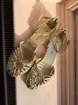 Red Herring Gold Sandals