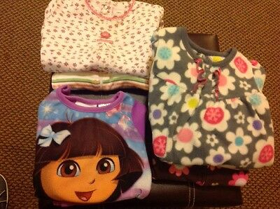 Lot of 6 Pieces Infant Girl's Pajamas 12 Months