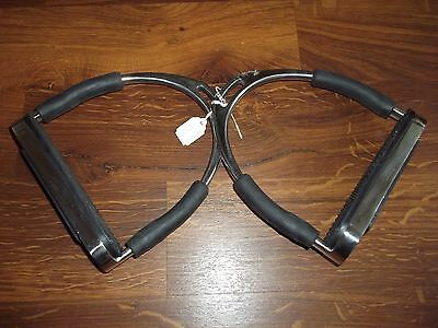 "New Protack  5 1/4"" Flexi Stirrup Irons With Treads 5.25"