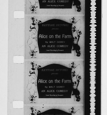 Dessin animé 16mm ALICE ON THE FARM 1926 Walt Disney