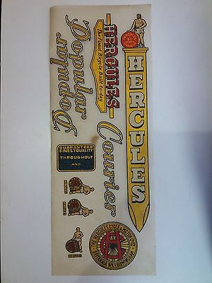 HERCULES DOPULAR Decal Transfer Sticker For Hercules Vintage Bicycle NOS