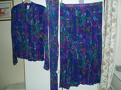 Vintage 1980s Indian fabric skirt & top with scarf