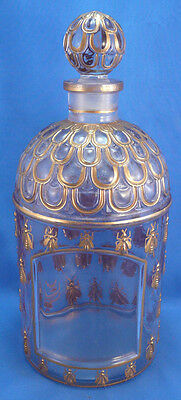 Rare,Vtg Empty Guerlain Shalimar Eau de Parfum, Honey Bee Perfume Bottle,Stopper