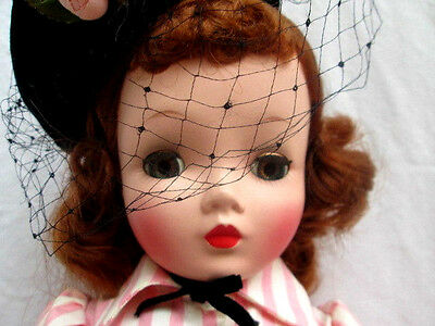 """VTG 1950's..MADAME ALEXANDER..20"""" CISSY DOLL..TAGGED DRESS..EXCELLENT CONDITION"""