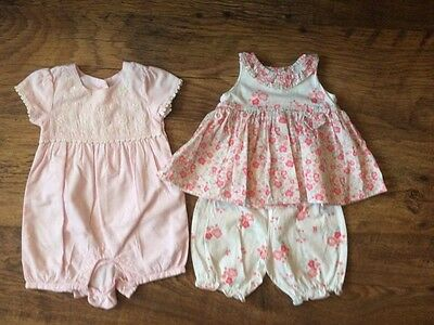 Girls Playsuit outfit bundle, size 0-3 months