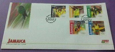 First Day Cover Jamaica  London Olympic featuring Bolt, Fraser-Pryce, Powell,new