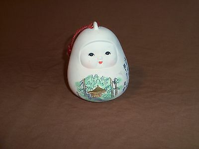 Asian Clay or Ceramic Painted Bell