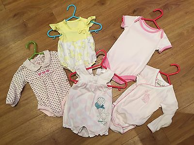 Baby Girl Short & Long Sleeve Vests Age New Born - 6 Months