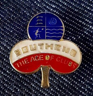 Vintage Southhend Ace Of Clubs Badge