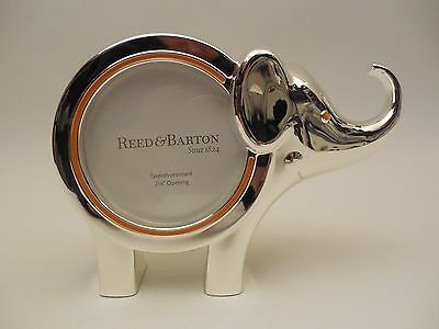 """Reed & Barton 9134 Jungle Parade Silverplate Elephant Frame 2-5/8"""" Opening NEW"""