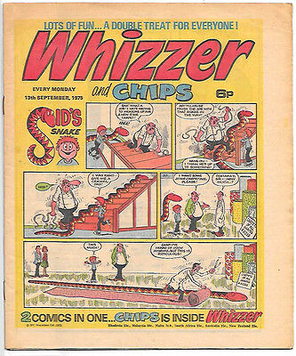 Whizzer and Chips 13 Sept 1975 (high grade) Sid's Snake, Odd-Ball, Loser...