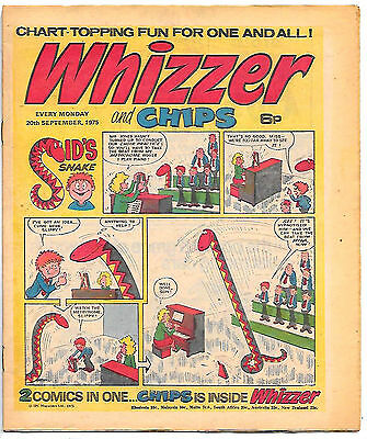 Whizzer and Chips 20 Sept 1975 (top grade) Sid's Snake, Odd-Ball, Loser...