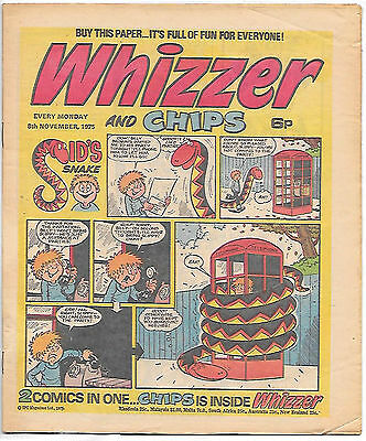 Whizzer and Chips 8 Nov 1975 (top grade) Sid's Snake, Odd-Ball, Loser...